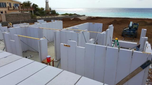 Gaz beton ile yapılan bir projenin inşaat aşamasından bir görüntü