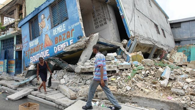 Haiti depremi sonrası bir görüntü