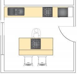F tipi mutfak tezgah